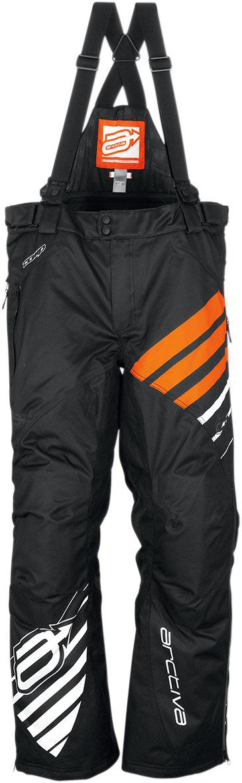Arctiva Snow Snowmobile COMP Insulated Bibs/Pants (Black/Orange)