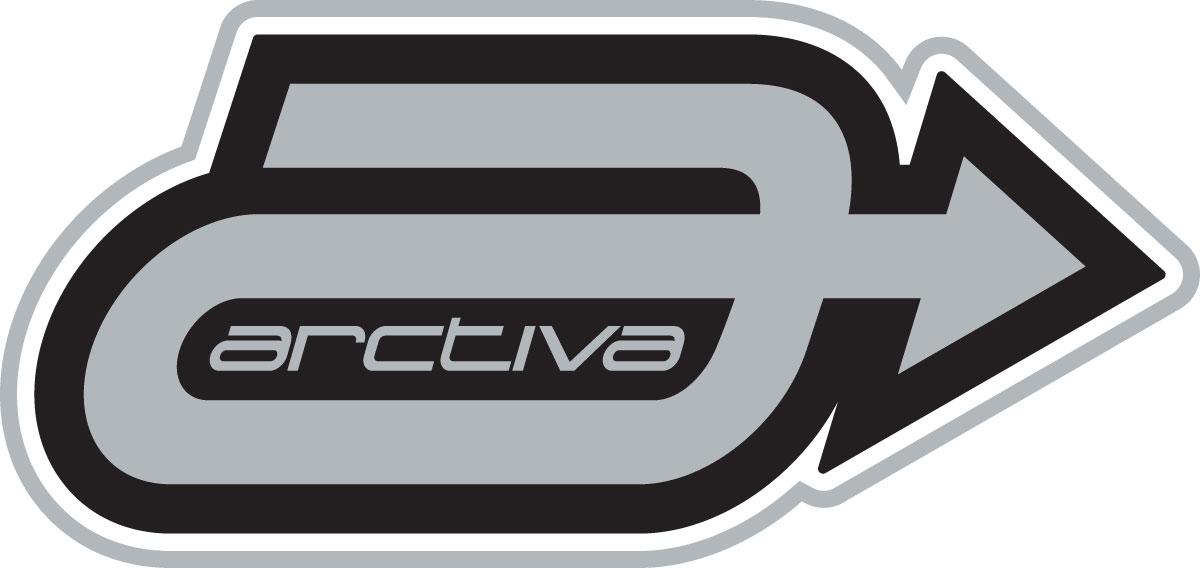 ARCTIVA Snow Snowmobile 4.5 inch A LOGO Die-Cut Vinyl Decal/Sticker (Gray/Black)