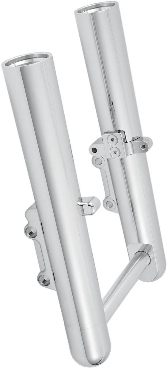 Arlen Ness - 06-503 - Hot Legs Dual Disc Fork Leg Set, Smooth - Chrome