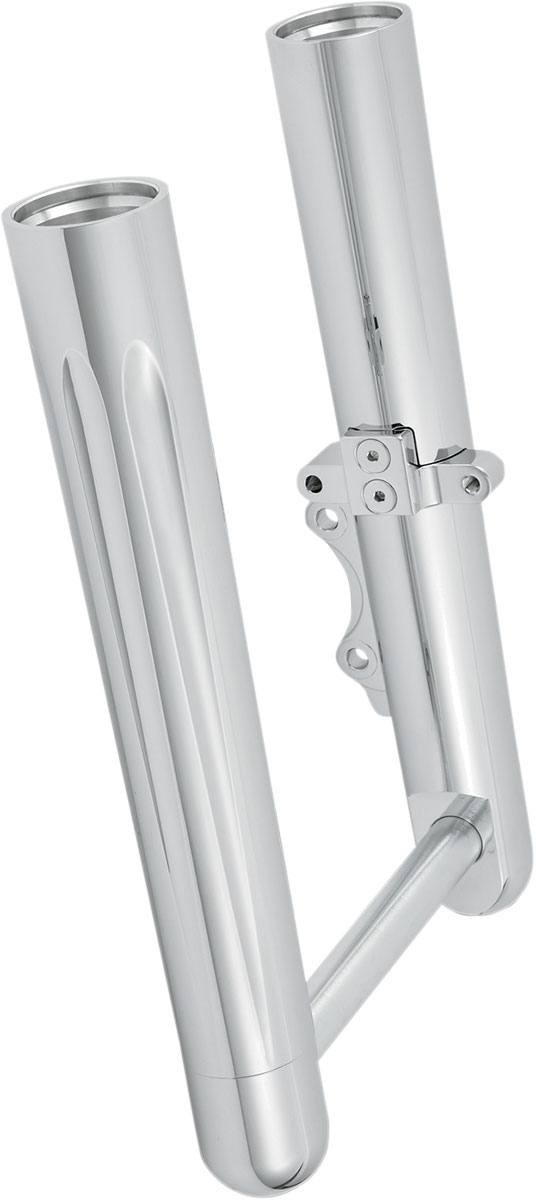 Arlen Ness - 06-512 - Hot Legs Dual Disc Fork Leg Set, Deep Cut - Chrome