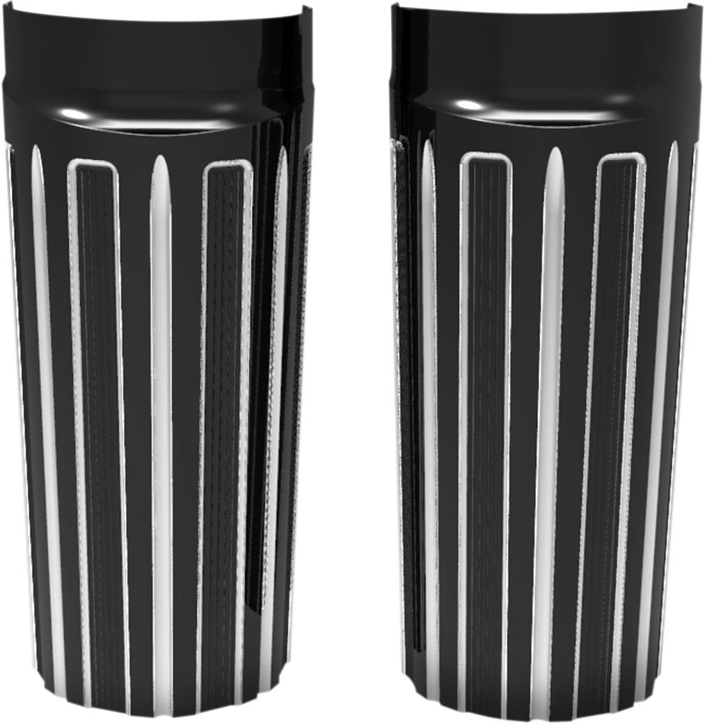 Arlen Ness - 20-056 - 10-Gauge Fork Boot Covers, (+2 over) - Chrome