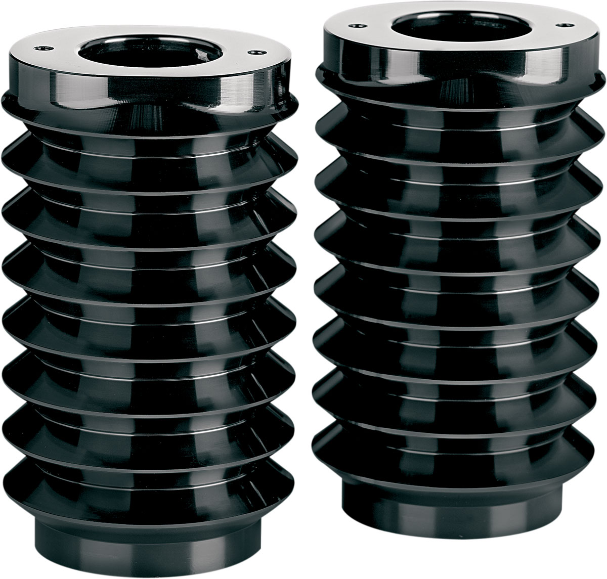 Arlen Ness - 20-004 - Retro Fork Boot Covers, Black