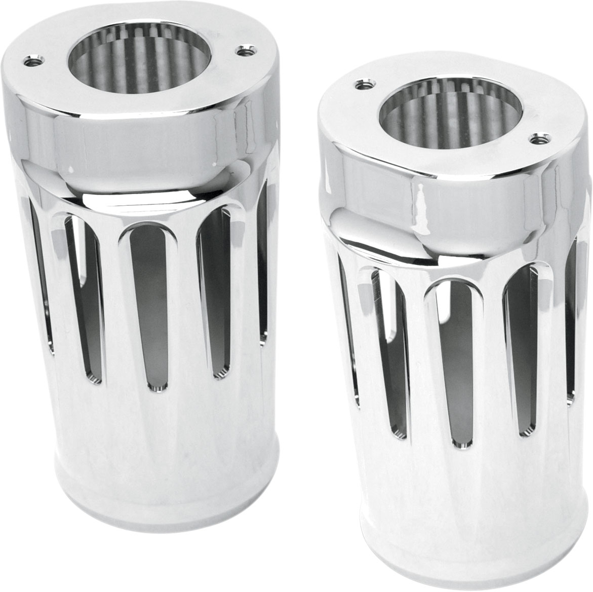Arlen Ness - 20-012 - Deep Cut Fork Boot Covers, Chrome