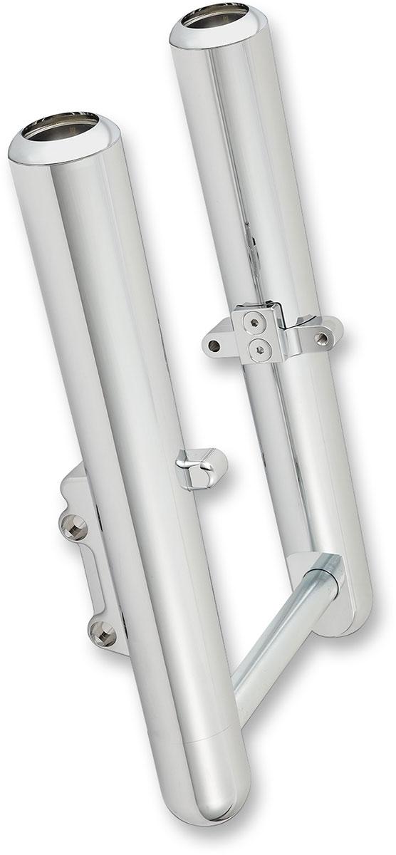 Arlen Ness - 06-520 - Hot Legs Single Disc Fork Leg Set, Smooth - Chrome