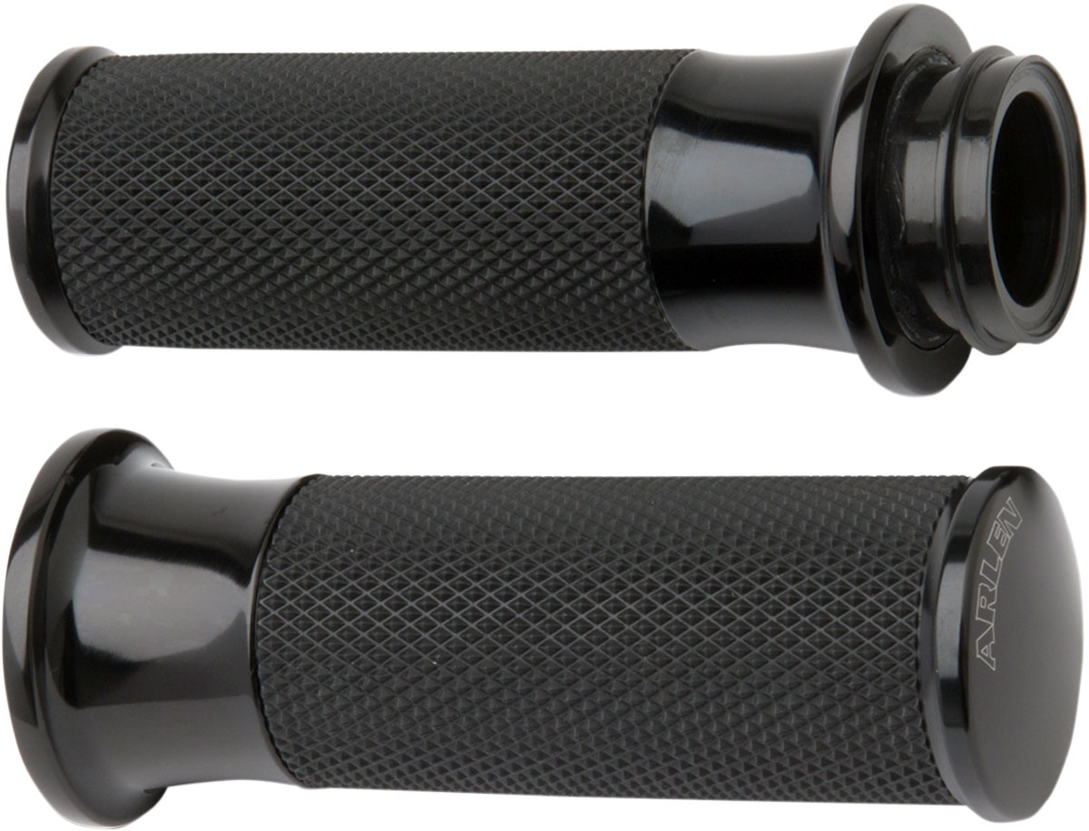 Arlen Ness - 07-323 - Fusion Series Grips, Smooth - Black