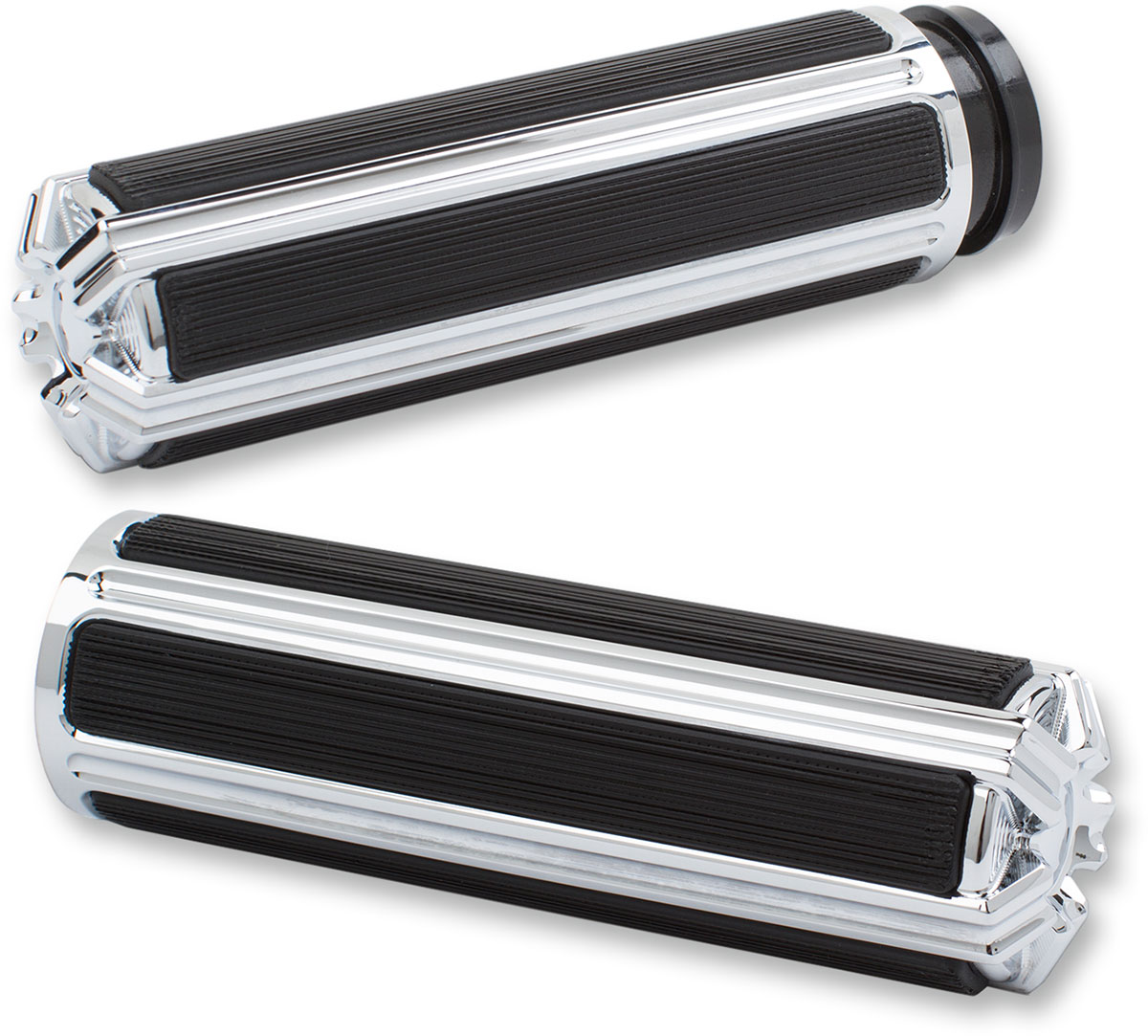 Arlen Ness - 07-119 - 10-Gauge Grips, Chrome