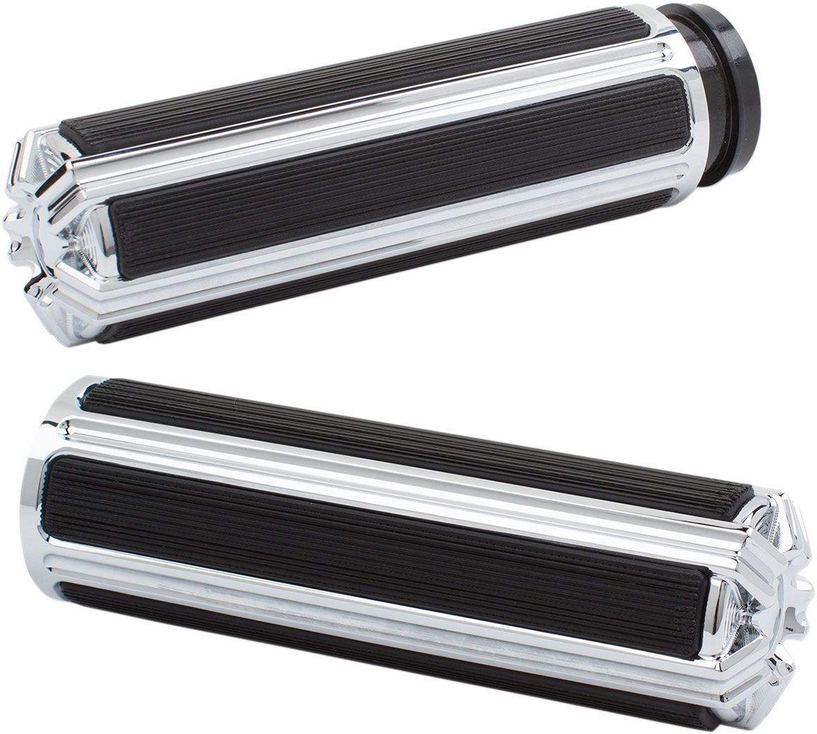 Arlen Ness - I-5000 - 10-Gauge Comfort Grips, Chrome