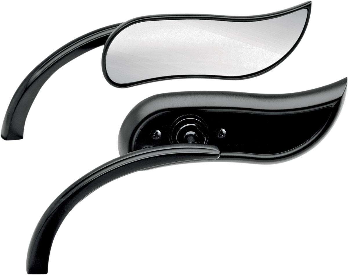 Arlen Ness - 13-405 - Micro Die-Cast Upswept Mirror, Right - Black