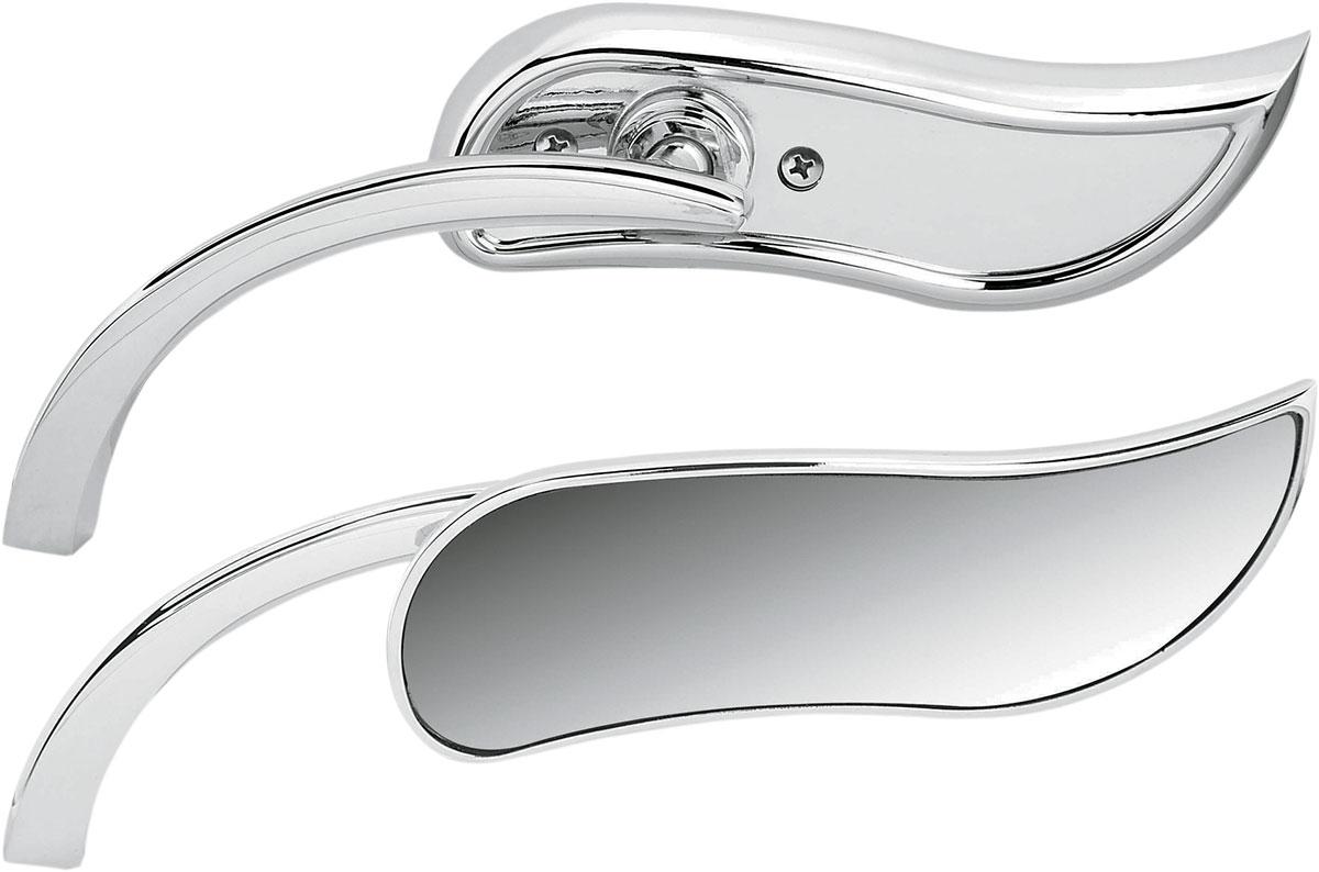 Arlen Ness - 13-408 - Micro Die-Cast Upswept Mirror, Left - Chrome