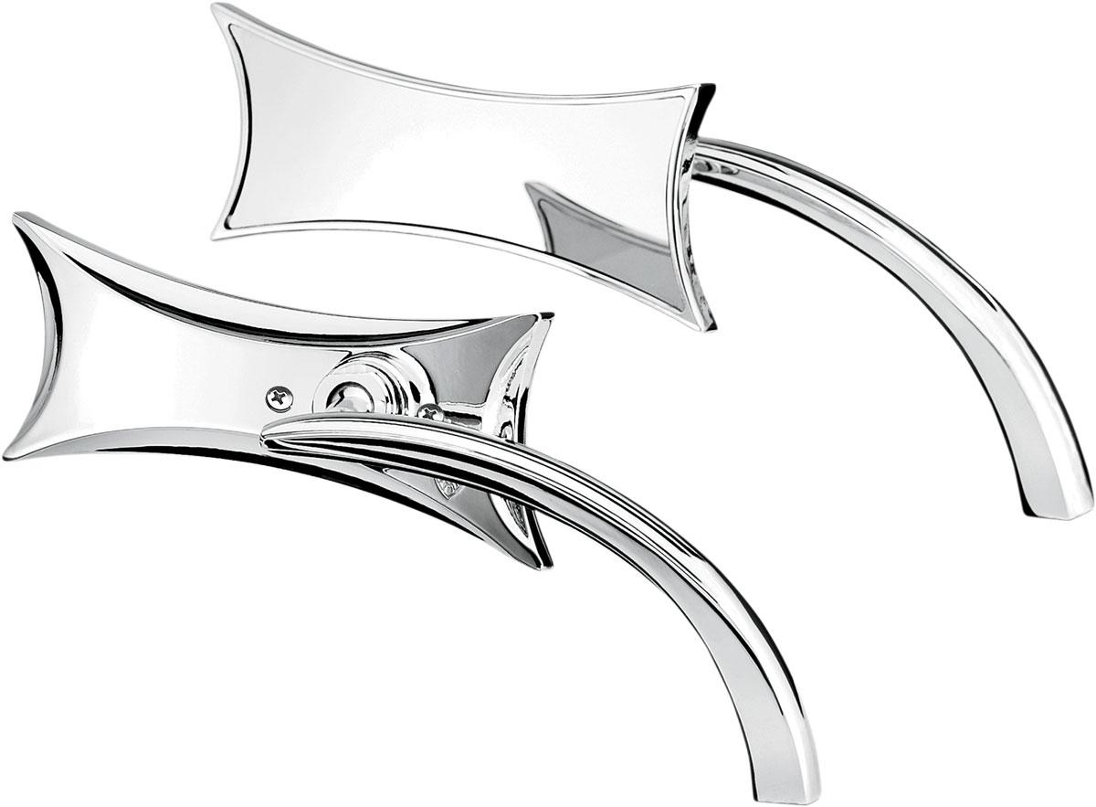 Arlen Ness - 13-416 - Micro Die-Cast Four Point Mirror, Left - Chrome
