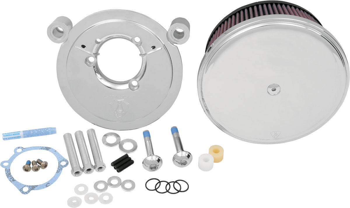 Arlen Ness - 18-818 - Billet Sucker Stage II Air Filter Kit with Steel Cover