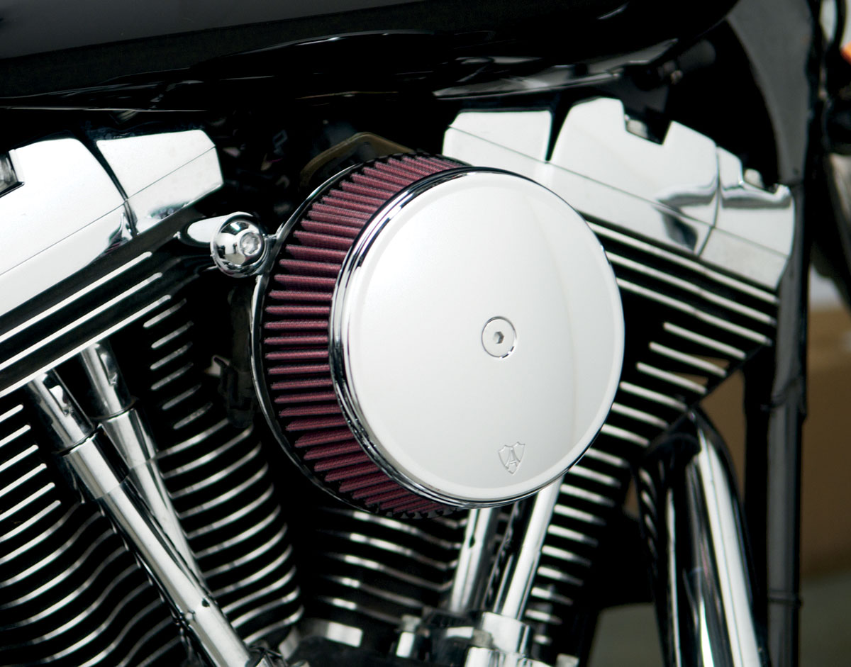 Arlen Ness - 18-320 - Billet Sucker Stage I Air Filter Kit with Steel Cover