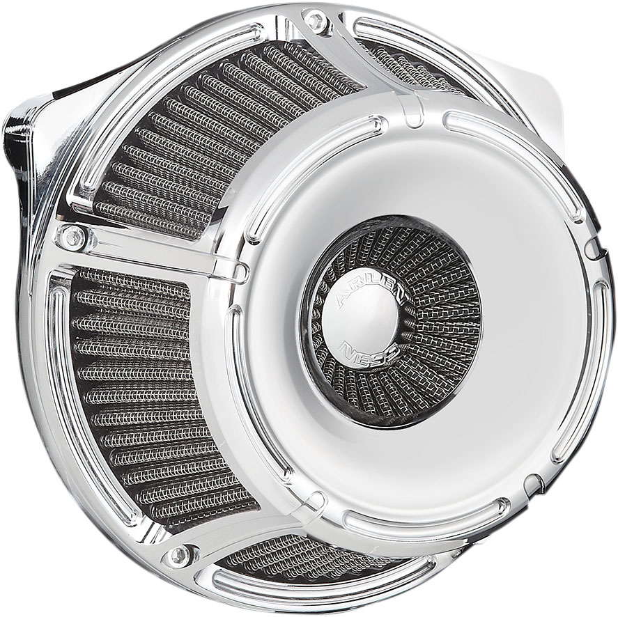 Arlen Ness - 18-914 - Inverted Series Air Cleaner Kit, Slot Track - Chrome