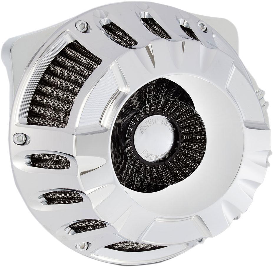 Arlen Ness - 18-916 - Inverted Series Air Cleaner Kit, Deep Cut - Chrome