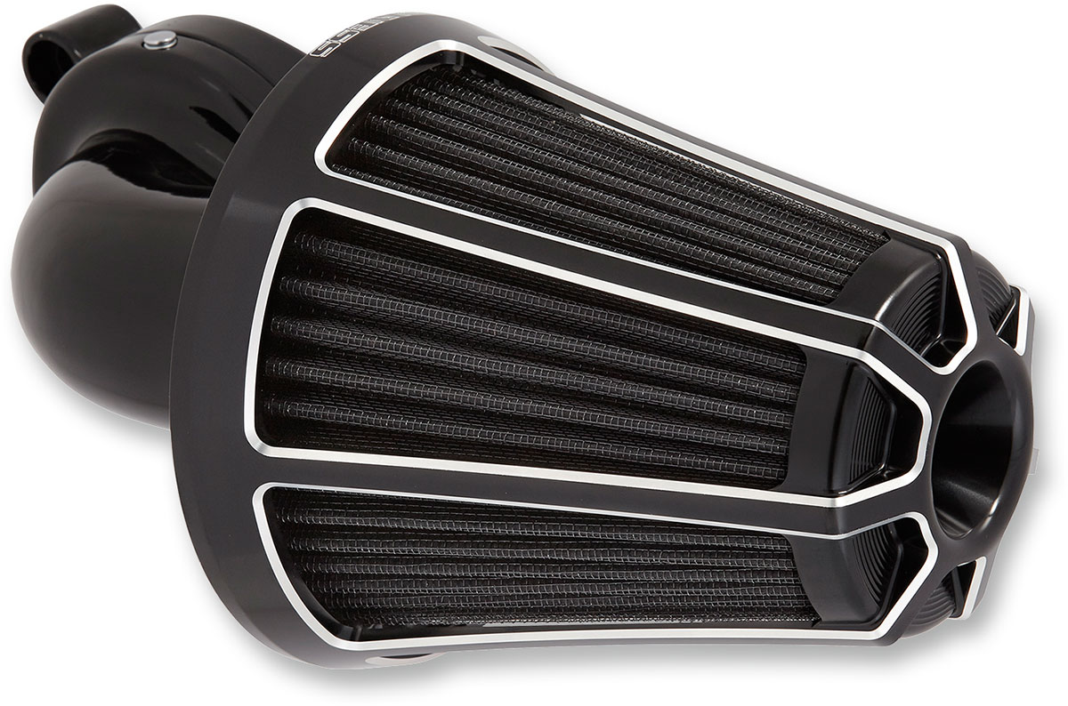 Arlen Ness - 81-013 - Monster Sucker Air Cleaner Kit, Beveled - Black