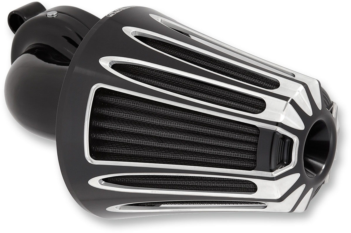 Arlen Ness - 81-004 - Monster Sucker Air Cleaner Kit, Deep Cut - Black