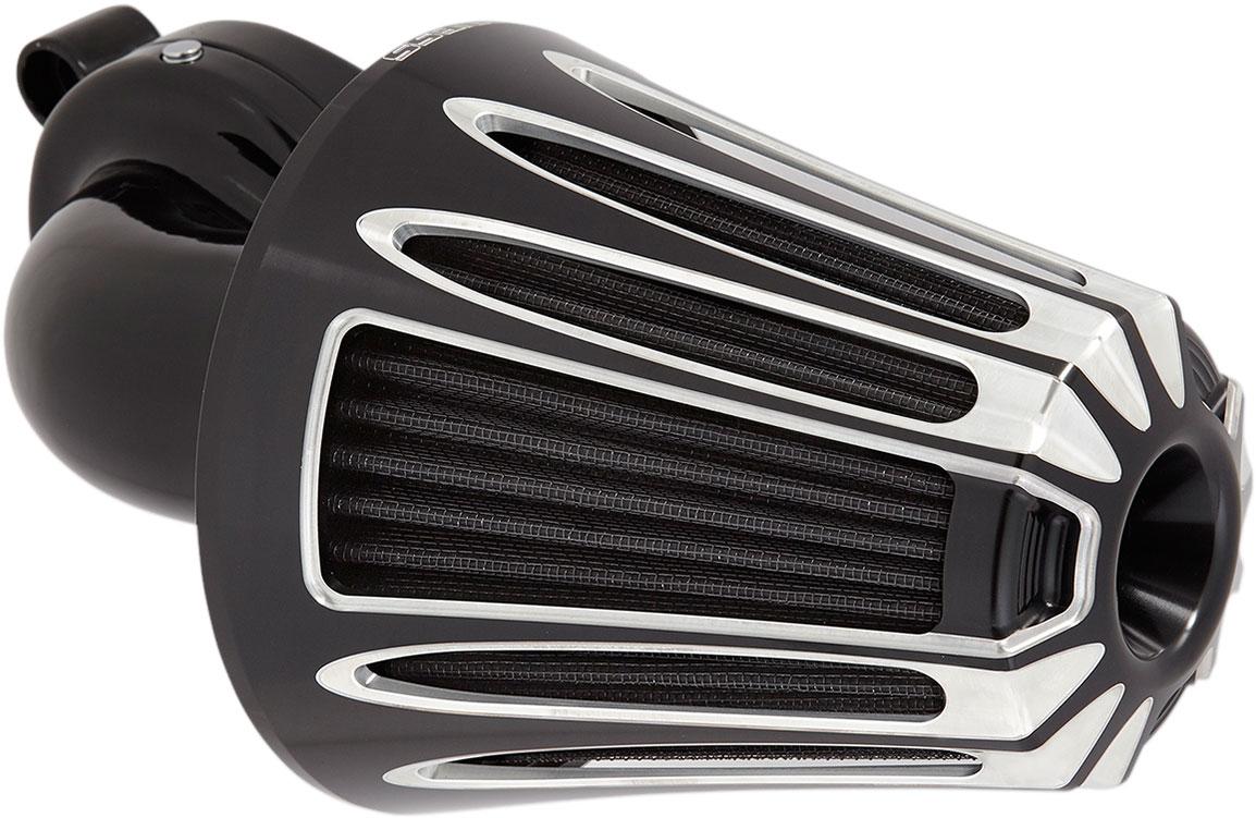 Arlen Ness - 81-009 - Monster Sucker Air Cleaner Kit, Deep Cut - Black