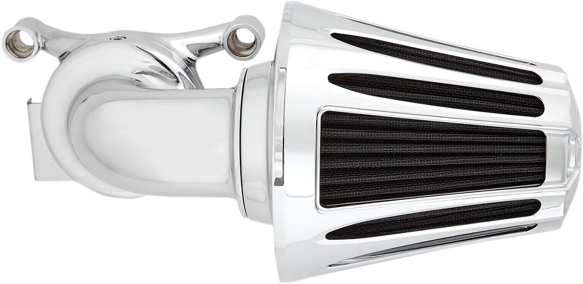 Arlen Ness - 81-029 - Monster Sucker Air Cleaner Kit, Deep Cut - Chrome