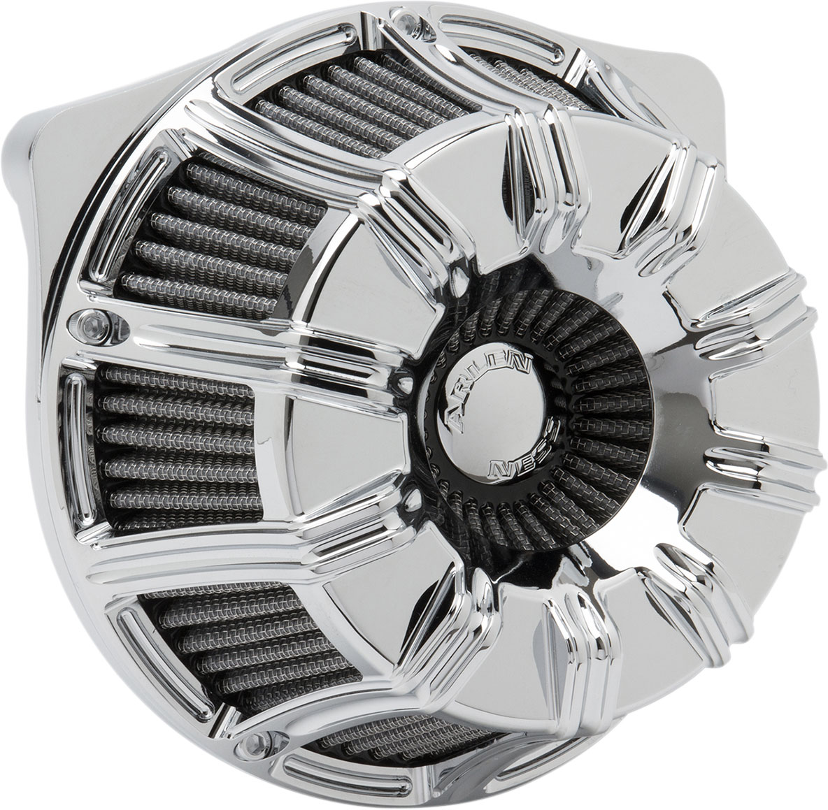 Arlen Ness - 18-946 - Inverted Series Air Cleaner Kit, 10-Gauge - Chrome