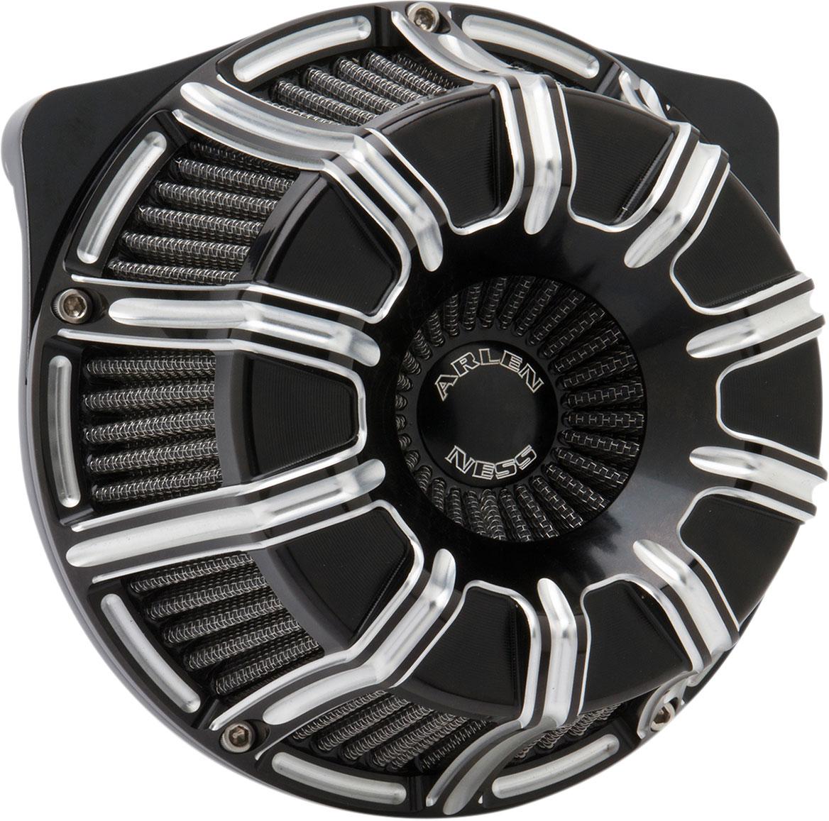 Arlen Ness - 18-947 - Inverted Series Air Cleaner Kit, 10-Gauge - Black