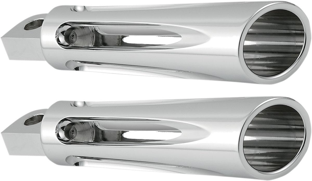 Arlen Ness - 06-470 - Footpegs, Deep Cut - Chrome