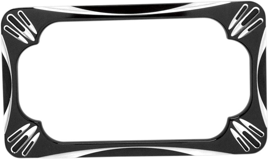 Arlen Ness - 12-159 - Deep Cut License Plate Frame, Black