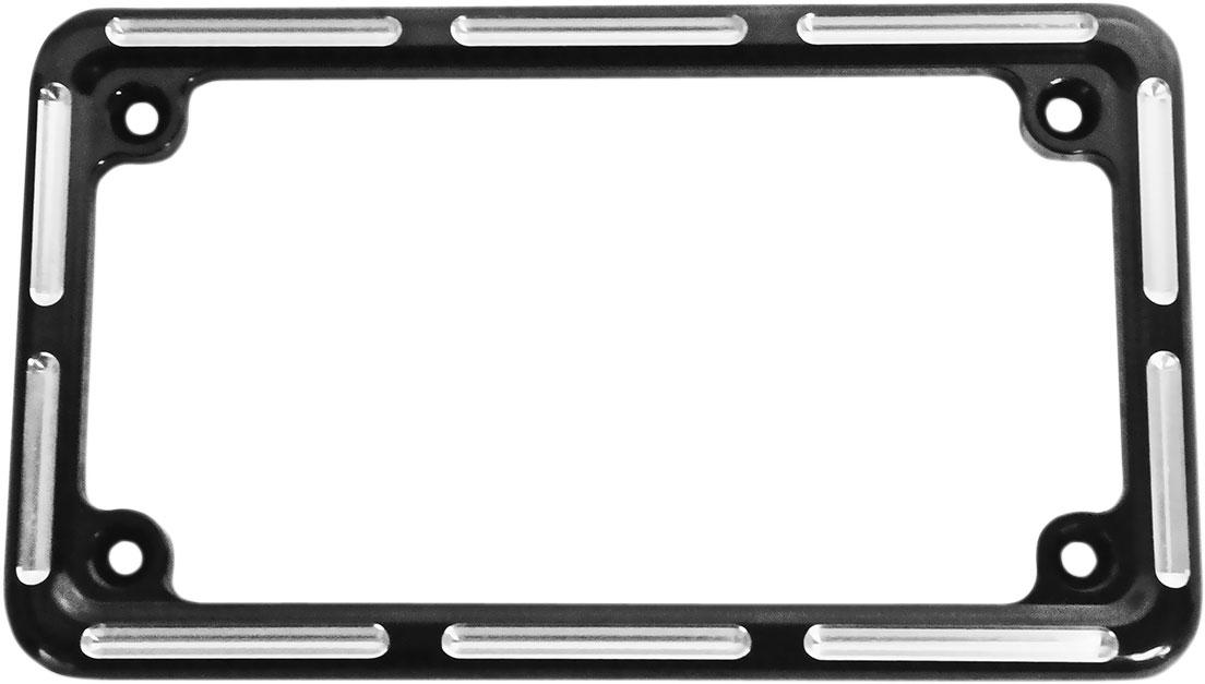 Arlen Ness - 12-134 - Slot Track License Plate Frame, Black