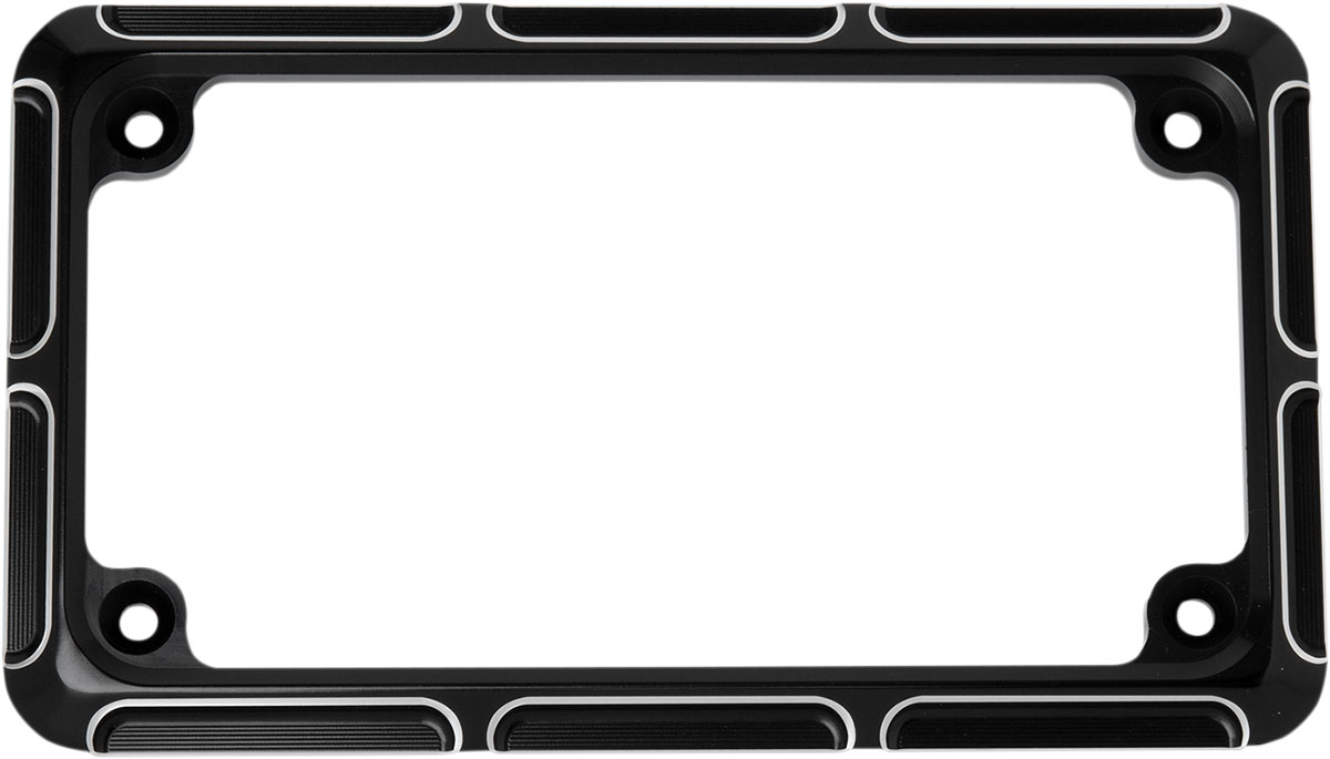 Arlen Ness - 12-144 - Beveled License Plate Frame, Black
