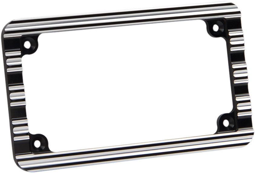 Arlen Ness - 12-136 - 10-Gauge License Plate Frame, Black