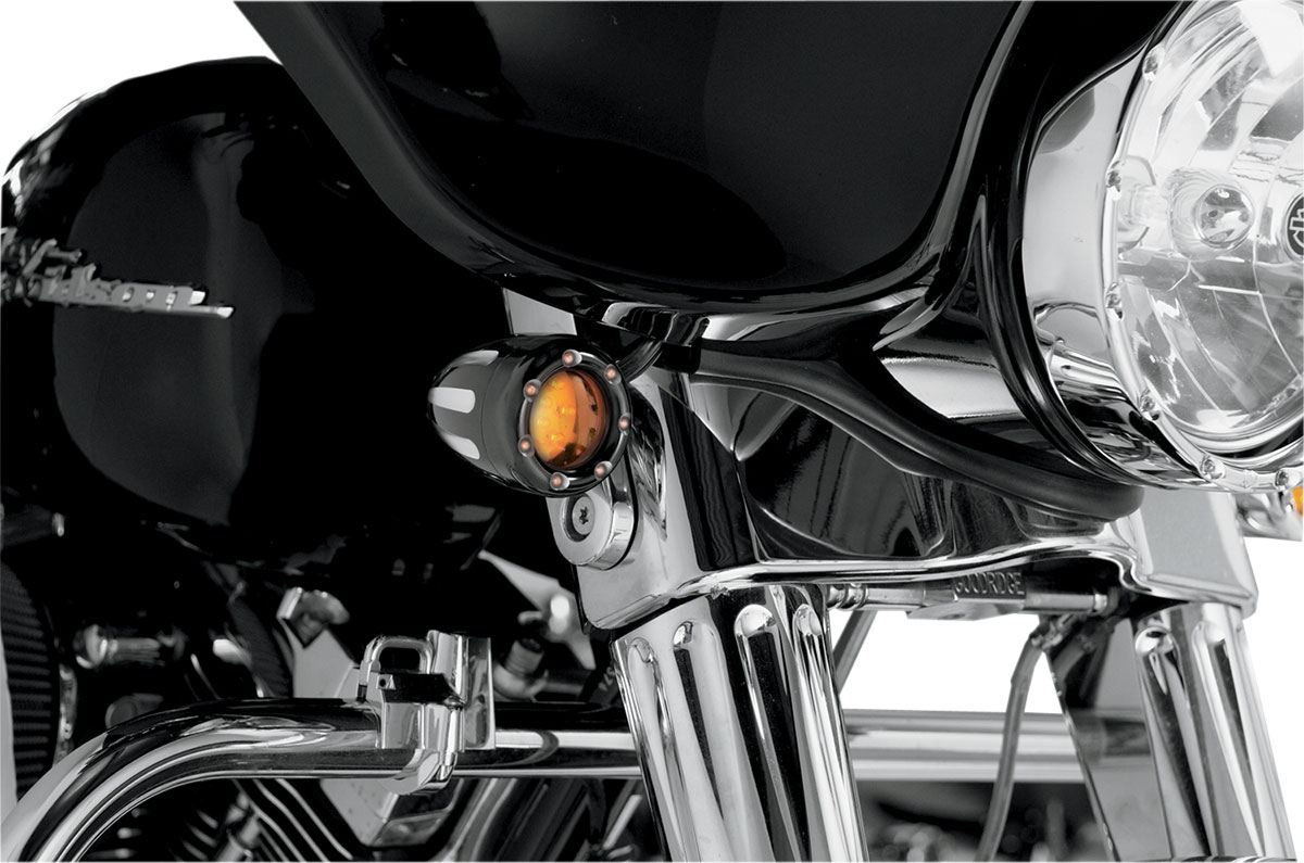 Arlen Ness - 12-753 - Deep Cut Turn Signals with Fire Ring LED