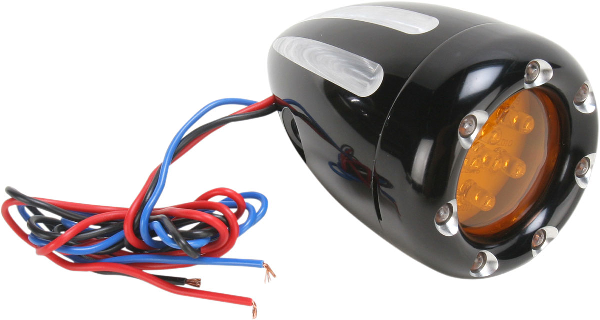 Arlen Ness - 12-765 - Deep Cut Turn Signals with Fire Ring LED