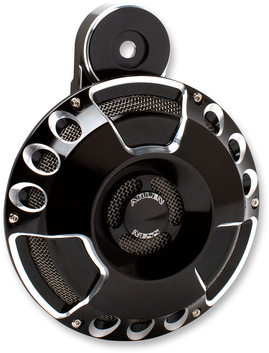 Arlen Ness - 70-200 - Horn Cover, Deep Cut - Black