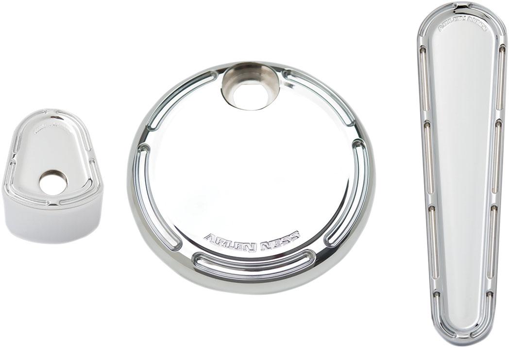 Arlen Ness - 91-104 - Dash Accessory Pack, Slot Track - Chrome
