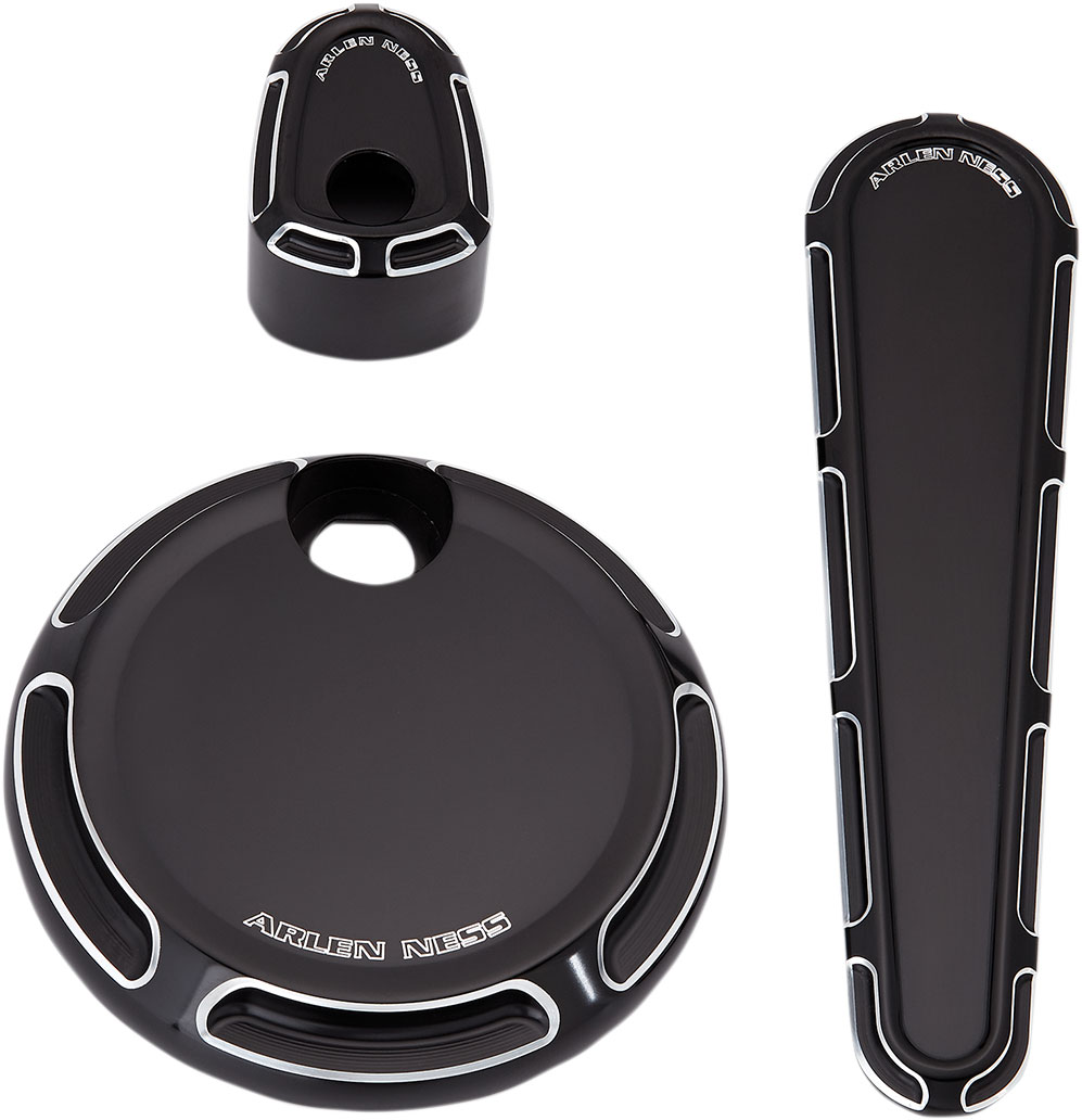 Arlen Ness - 91-117 - Dash Accessory Pack, Beveled - Black