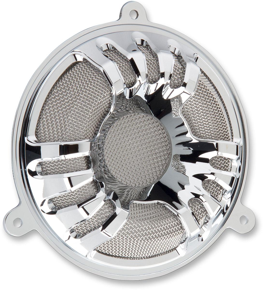 Arlen Ness - 03-907 - Deep Cut Speaker Grills, Chrome