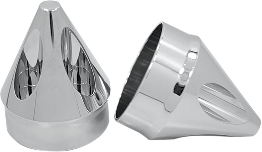 AVON Axle Nut Covers/Caps for H-D Touring Models (SPIKE Chrome)