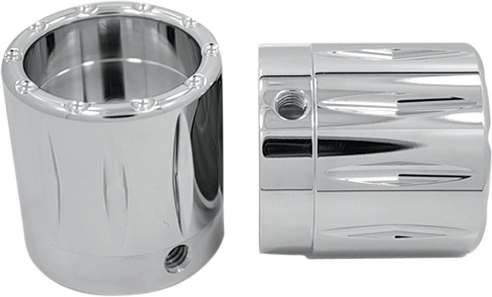 AVON Axle Nut Covers/Caps for H-D Touring Models (RIVAL Chrome)