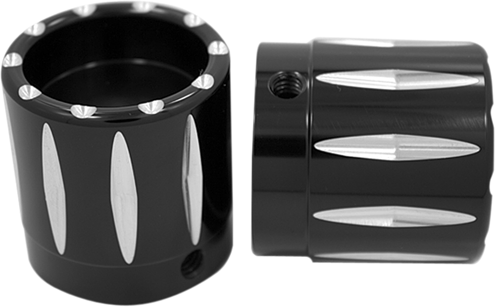 AVON Axle Nut Covers/Caps for H-D Touring Models (RIVAL Black)