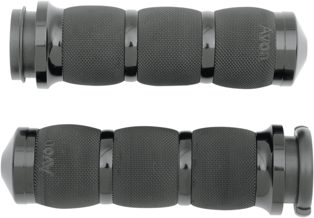 AVON Air Cushion Grips for H-D Motorcycles w/Fly-By-Wire Throttle (Black)