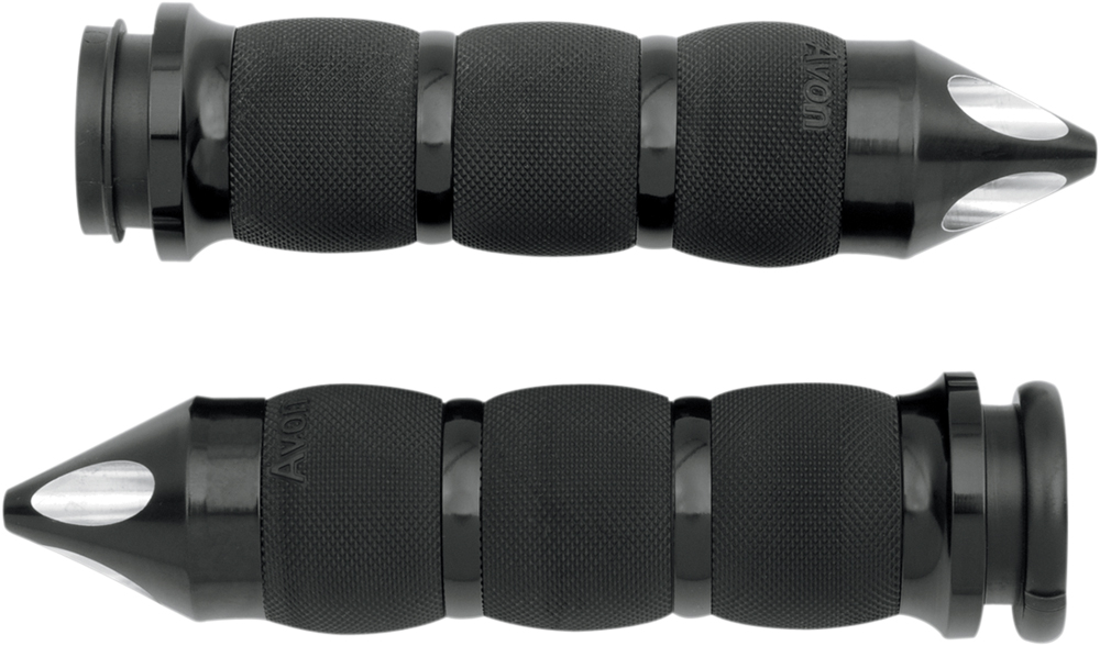 AVON Air Cushion Grips for H-D Motorcycles w/Fly-By-Wire Throttle (SPIKE Black)