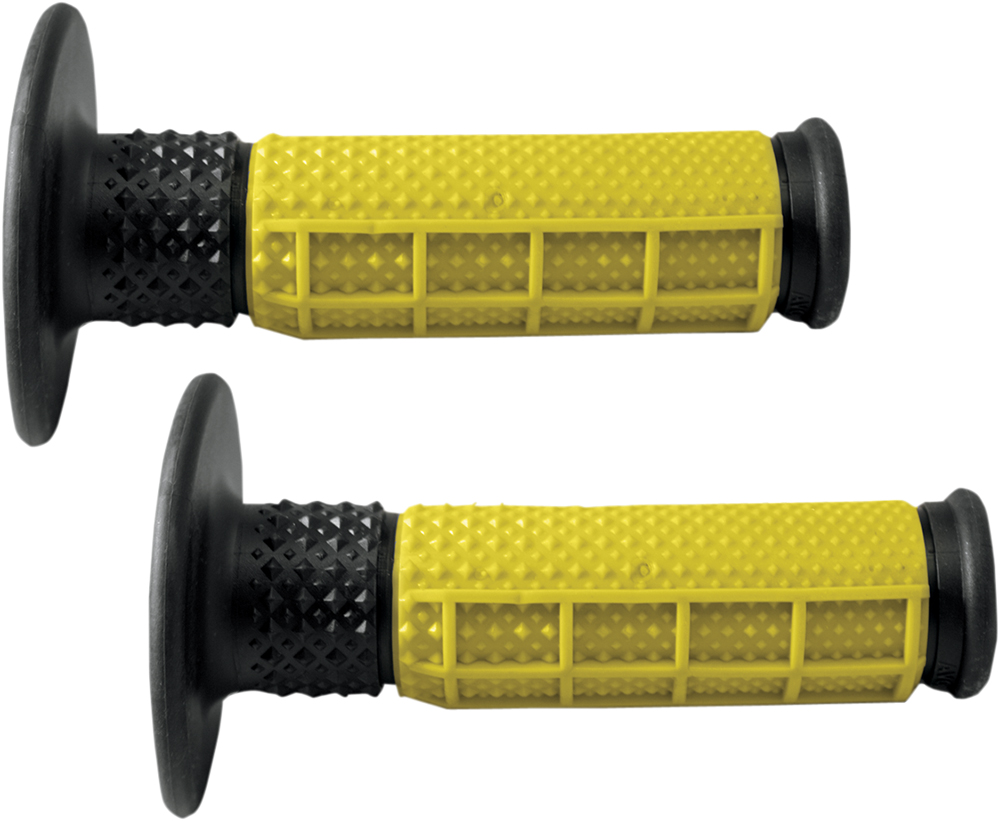 AVON X.9 Half Waffle MX Motorcross Grips (Yellow/Black)