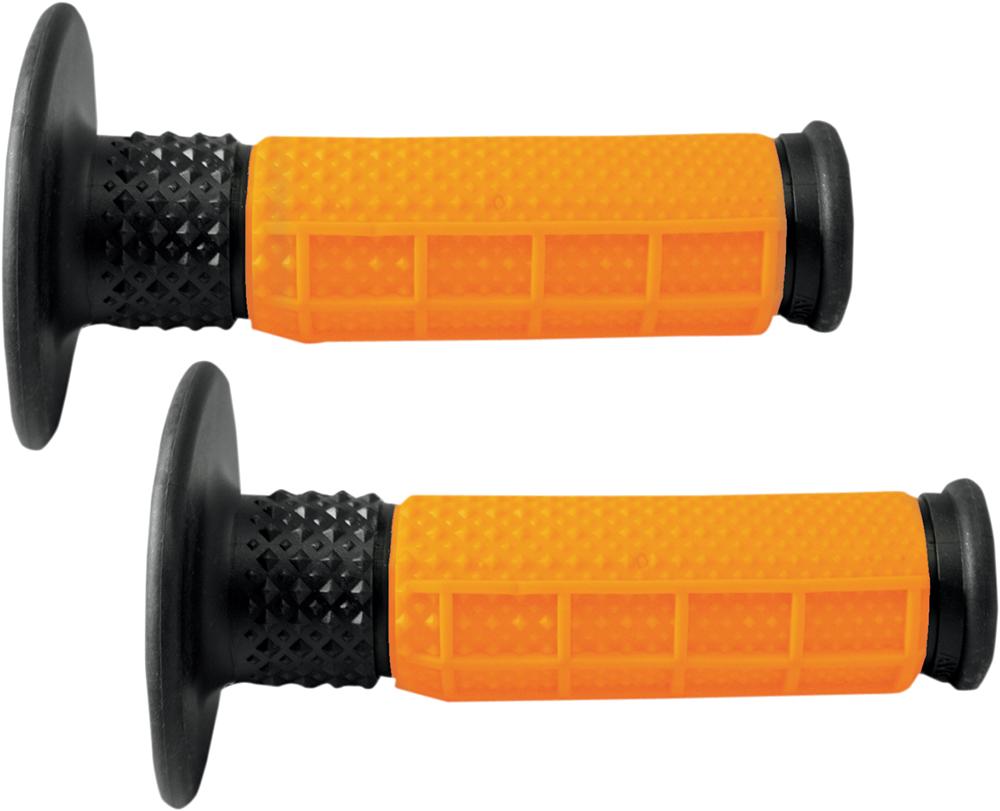 AVON X.9 Half Waffle MX Motorcross Grips (Orange/Black)