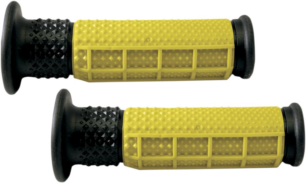 AVON V.9 Half Waffle ATV Grips (Yellow/Black)