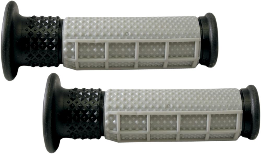 AVON V.9 Half Waffle ATV Grips (Grey/Black)