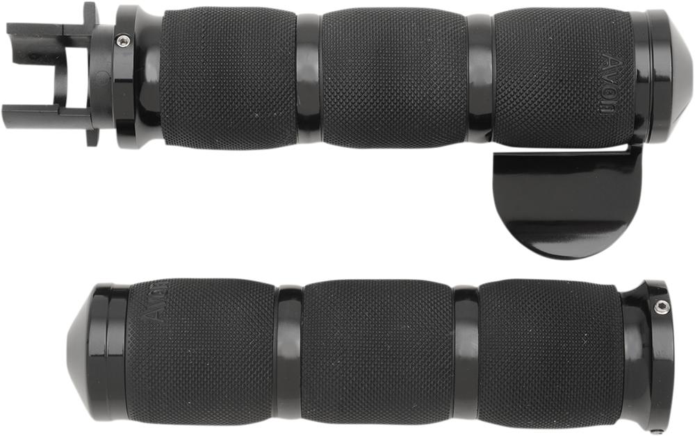 AVON Air Cushion Grips for Indian Cruisers (THROTTLE BOSS Black)