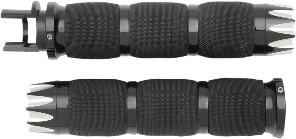 AVON Air Cushion Grips for Indian Cruisers (EXCALIBUR Black)