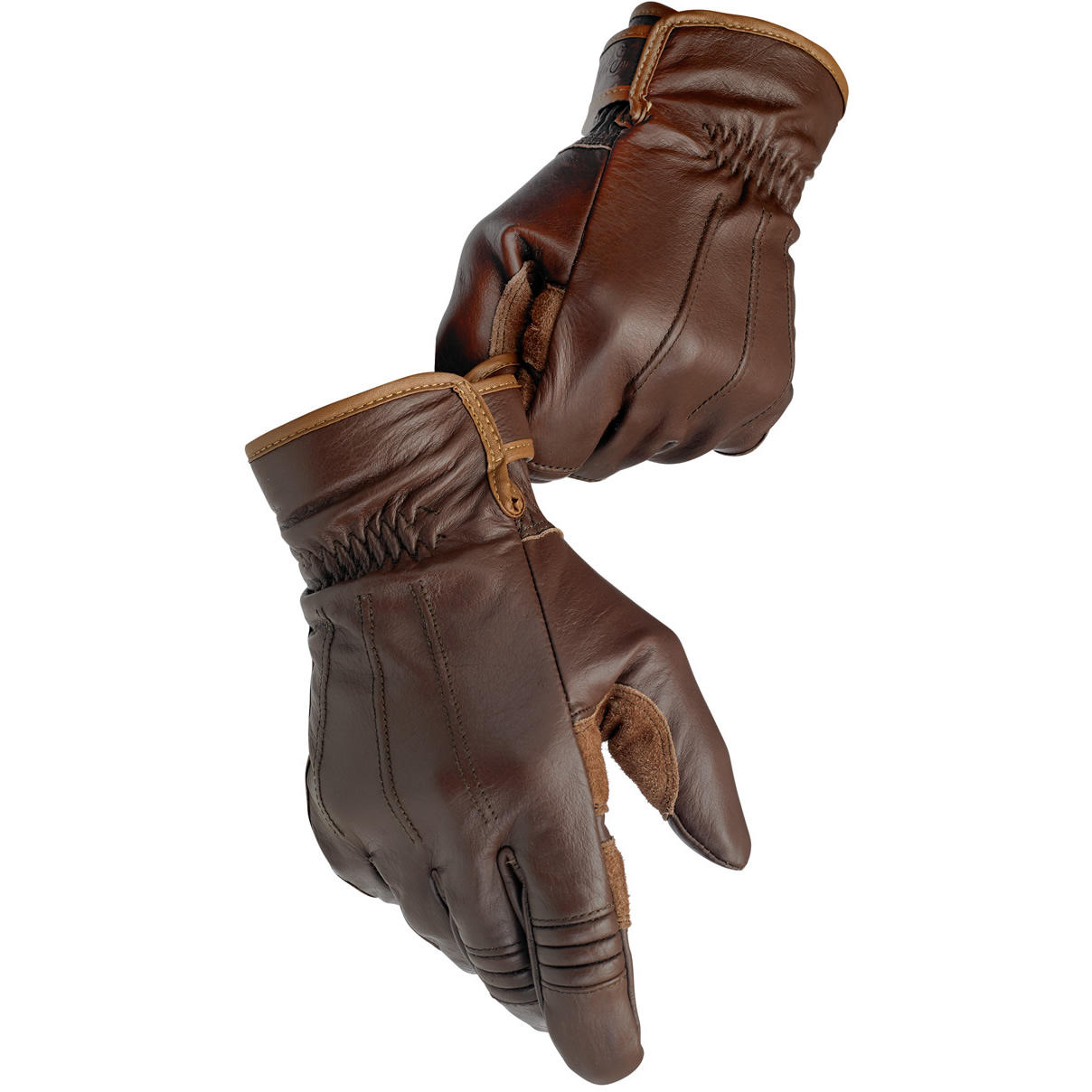 Biltwell Leather Work Motorcycle Gloves Chocolate L