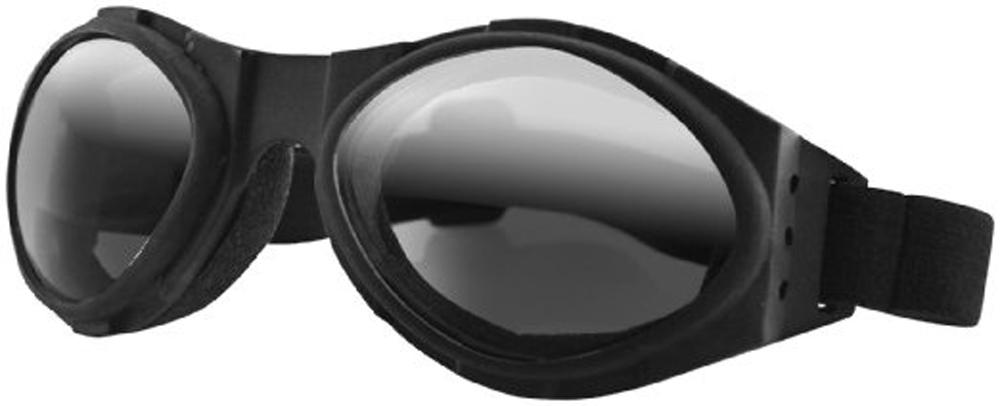 Bobster Bugeye Goggles (Black Frame, Smoke Reflective Lens)