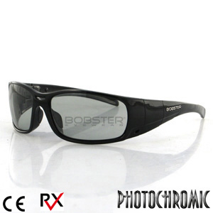 Bobster Gunner Convertible Goggles (Black Frame, Photochromic and Clear Lenses)