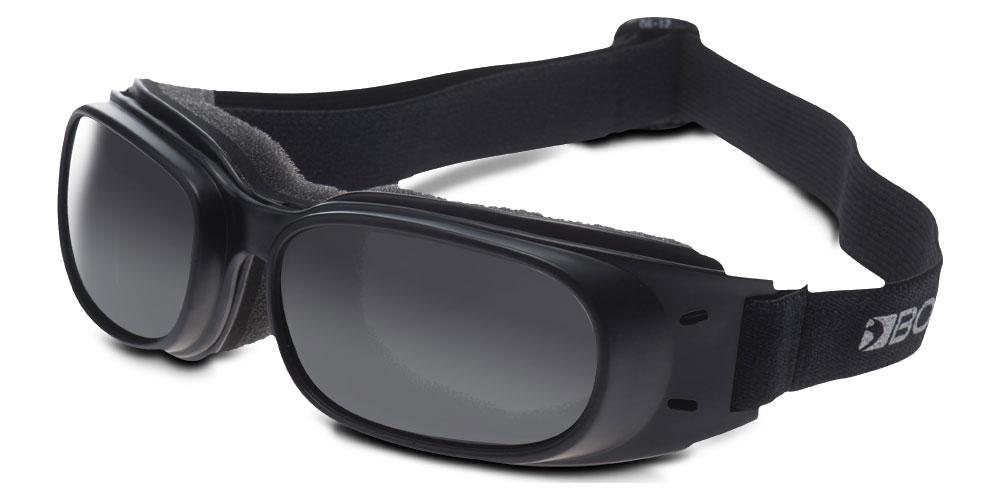 Bobster Piston Goggles (Black Frame, Smoke Lens)